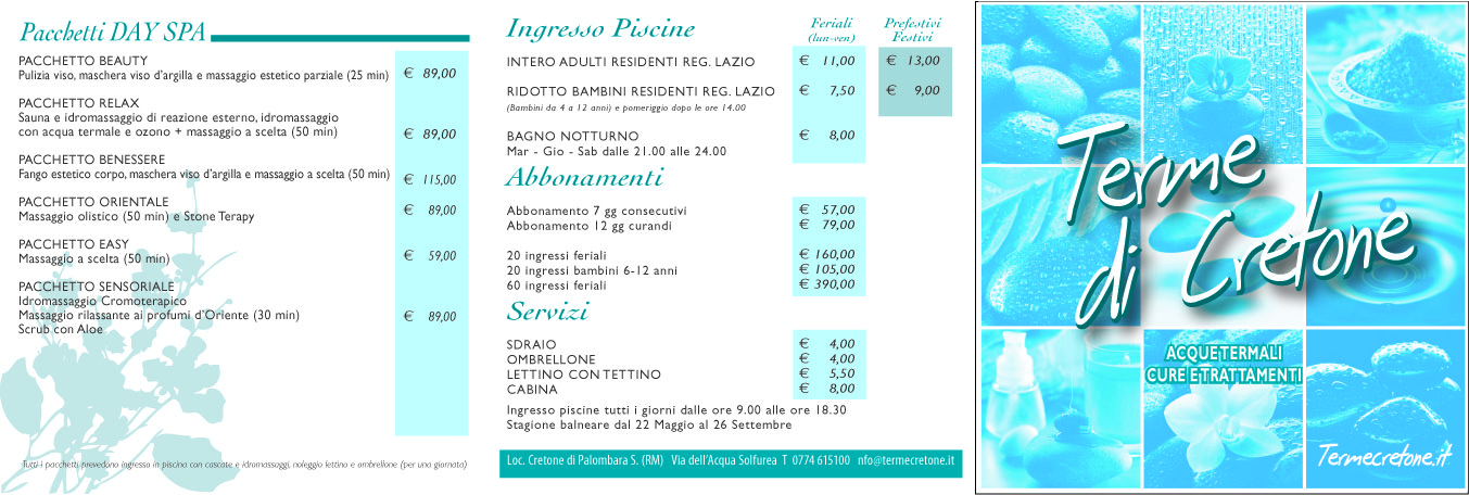 prezzi | Terme del Lazio